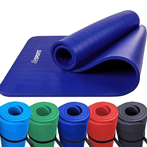 ScSPORTS Gymnastik-/ Yoga-Matte, dick und rutschfest, mit Schultergurt, 190 cm x 80 cm x 1,5 cm, universeller Einsatz im Fitnessstudio oder zu Hause, veilchenblau (Schaumstoff Einsätze Für Sofas)