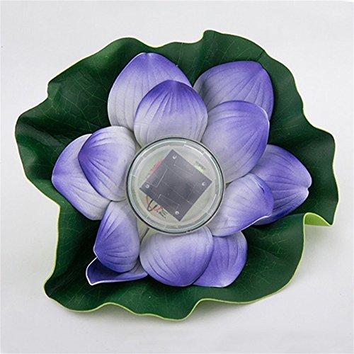 Solar Power Licht Schwimmende Blume Lotus Wasserdichtes Licht als Schwimmbad Teich Garten Outdoor-dekoration Lampe ()