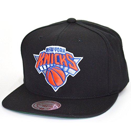 Mitchell & Ness Snapback Cap Wool Solid New York Knicks Black Black Wool Cap