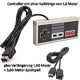 Game Controller passend für Nintendo Classic Mini NES mit Verlängerungskabel Hersteller: Y-Mai