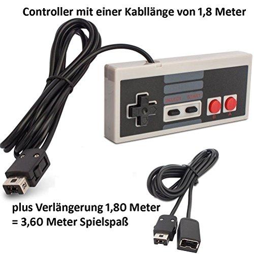 Preisvergleich Produktbild Game Controller passend für Nintendo Classic Mini NES mit Verlängerungskabel Hersteller: Y-Mai
