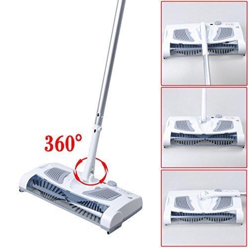 CUH Sweeper Komplett-Reinigungsystem Akku-Besen Kehrmaschine weiß
