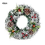 ghhshjhlk Colgante De Corona De Guirnalda De Navidad Hecha A Mano Colgante De Puerta De Ventana De Ventana Liviana Y Ecológica Decoración Colgante Los 40cm