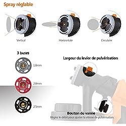 Pistolet à Peinture Électrique 800W Débit 1100ml/min/Tacklife SGP16AC Expert/Pulvérisateur de Peinture/Débit Réglable/ 3 Modes de Pulvérisation/ 3 Buses en Cuivre Fournies