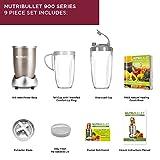 NutriBullet Pro 900W Juicer Fruit Blender Smoothie Maker 9 Piece Set with FREE Natural Healing Foods Book (As Seen on High Street TV)