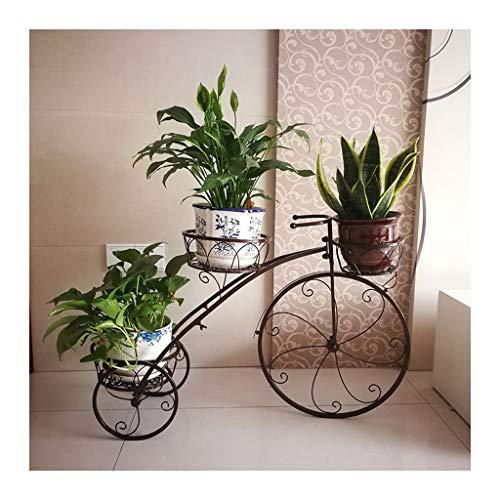 Dreirad Pflanzer Shabby Chic Metall Pflanze Stand, KöRbe Fahrrad Garten Fahrrad Blumentopf Geschenk, Garten Blumendekoration Indoor Outdoor Display Stehen Schwarz