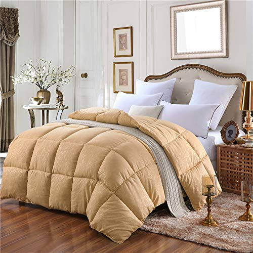YSYW Daunendecke Bettbezug Mittelschwer Für Die Ganze Saison Flauschig Warm Weich Hypoallergen,Yellow-200 * 230cm/3kg