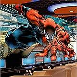 NXMRN 3D Spiderman Marvel Thème Fond D'Écran Restaurant Murale Fond Décoration...