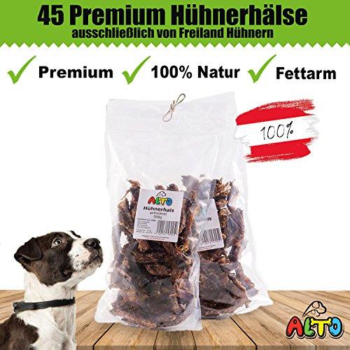 Alto-Petfood - getrocknete Hühnerhälse für Hunde | 100% Naürlich - Kauartikel Hund - wie Putenhälse, Hähnchenhälse, Hundekauartikel, Kausnack, Hundesnack, Huhn