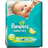 Pampers Baby Dry couches Taille 2 de transport Lot de 37 Couches