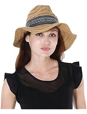 Dantiya Mujeres Panamá Paja Sombrero De Ala Ancha Verano Sombrero De Fiesta De La Boda y Playa