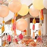Lot de 5Papier Pompon guirlandes fanions pour décoration de fête de mariage