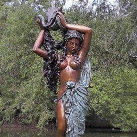 Gartentraum Gartenfigur Nackte Frau aus Bronze - Aphrodite, Bronze - Nackt Bronze