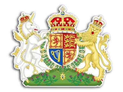 Schottland UK Royal Wappen Aufkleber (Schottischer Wappen Aufkleber)
