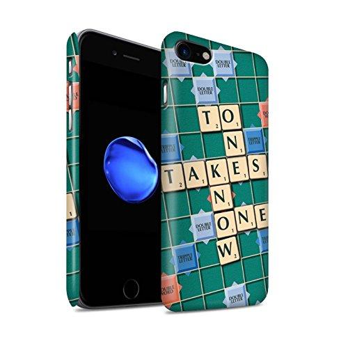 STUFF4 Matte Snap-On Hülle / Case für Apple iPhone 8 / Ignoranz Glück Muster / Scrabble Worte Kollektion Kennen