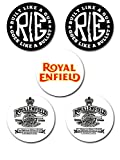 #8: EFW BUTTON BADGE ROYAL ENFIELD