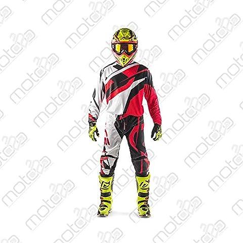 Pantaloni motocross Acerbis MX Profile nero/rosso