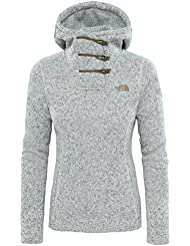 North Face W CRESCENT HOODED PULLOVER - Sudadera , Mujer , Blanco - (VINTAGE WHITE HEATHER)