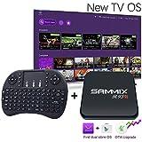 [2017 New SAMMIX R95S] Android 6.0 TV BOX Amlogic S905X 2G 16G quad core Smart TV 4K player bluetooth + Mini Wireless Keyboard