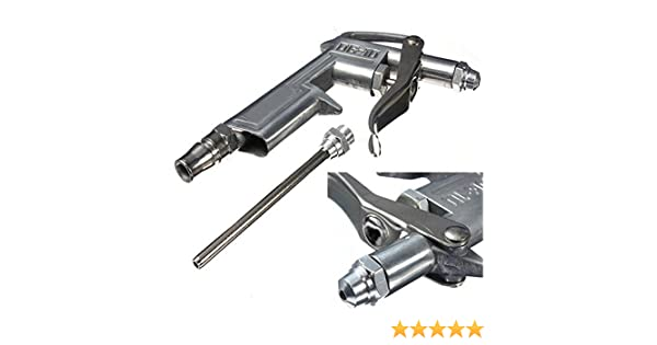 pistolet de soufflage,accessoire pistolet de gonflage avec buse en Aluminium pour compresseur//Nettoyage de travaux Argent Malayas/® Soufflette /à air comprim/é