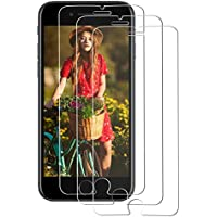 [3 Pack] Protector de Pantalla iphone 7,Supband Protector Pantalla de Cristal Templado para iphone 6/7/8 Vidrio templado Para iphone 6/7/8-Transparente
