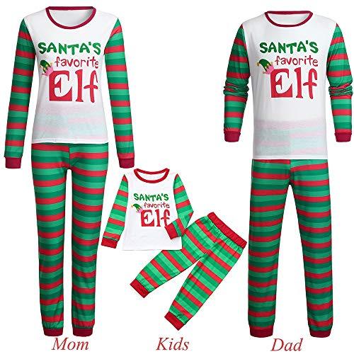 Passende Kostüm Zwei Für - OHQ Familien Pyjama Weihnachten Deer Print Pyjamas Home Kleidung 2 Passende Familie Kostüme Outfit Nachtwäsche Schlafanzüge Passende Sets Damen Herren Kinder Baby Eltern-Kind Homewear Sleepwear