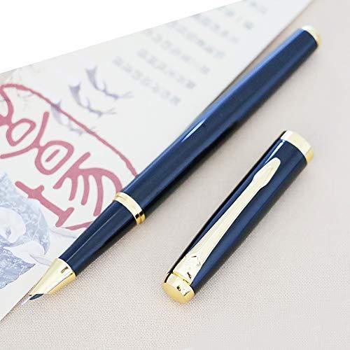 luxus füllfederhalter 9101 extra feine Feder 0,38 mm schöne füller (Black)