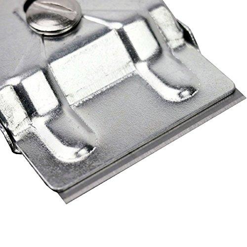 Grattoir Plaque Vitrocéramique Grattoir de nettoyage & Plaque Grattoir Plaque Vitrocéramique Grattoir avec un total de 11lames avec 10lames de recha...