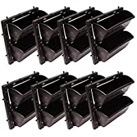 BIO BLOOMS AGRO INDIA PRIVATE LIMITED Vertical Garden Big Size bio Wall Planters M3 Model 8 Panels and 16 pots (Black…