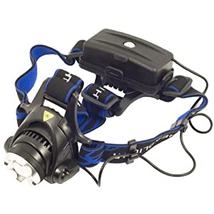 Lampe torche frontale à LED CREE XM-L T6 1600 lumen avec zoom + 2X 18650 rechargeable Batterie LD130 de XCSOURCE