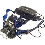 Lampe torche frontale à LED CREE XM-L T6 1600 lumen avec zoom + 2X 18650 rechargeable Batterie LD130