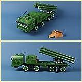 Ingenious Toys military BM-30 Smerch multiple launch rocket system & 6 figures / construction set #1316