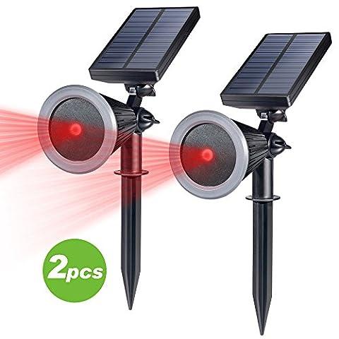 Christmas Red light Projector, Homecube Waterproof Garden Star Solar Lights