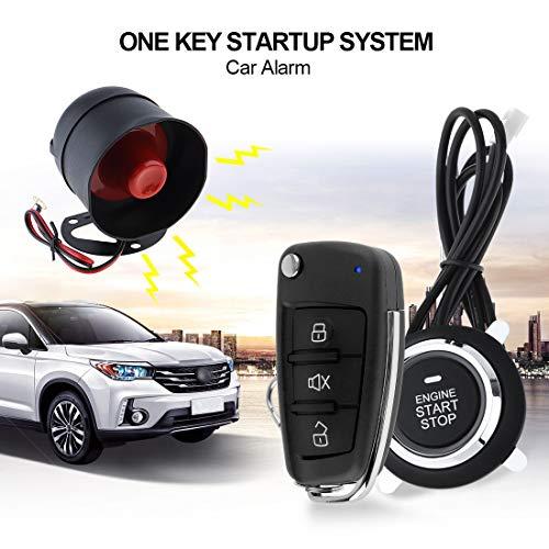 Universal Car Alarm System Remote Start Stop Motor System mit automatischer Central Lock und Keyless Entry 5A mit Schlüssel 5