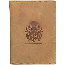 Style98 Tan 100% Hunter Leather Travel Passport Wallet||Passport Case||Credi/Debit Card Holder||Card Case||Pocket Wallet||Buisness Card Case