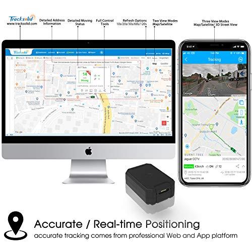 51ur3kFrckL - Localizador GPS Coche, Lncoon Portátil GPS Tracker Magnético Fuerte 6000mAh con GPS en Tiempo Real de Rastreo y Alarma Antirrobo para Coche Motocicleta Camiones Niños -Tarjeta SIM de Datos Incluida