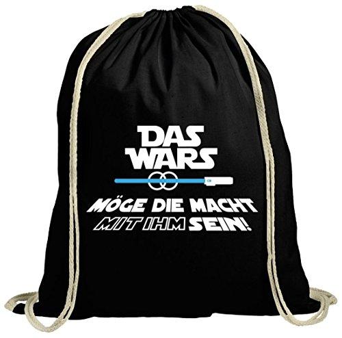Junggesellenabschieds natur Turnbeutel mit JGA 12 Das Wars - mit IHM sein Motiv Premium, Größe: onesize,schwarz natur - Zwölf Tote Baumwolle