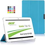 IVSO Slim Smart Cover Housse pour Acer Iconia A3-A20 10.1-Inch Tablette (Bleu)