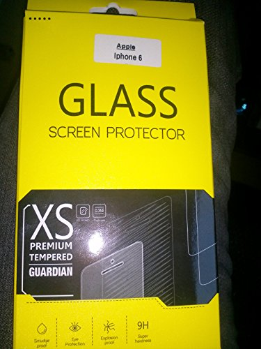 XS premium tempered guardian-Apple iPhone6 Premium Tempered Glass Screen Protector Guard - Protect Your Screen from Scratches and Drops - Maximize Your Resale Value - 99.99% Clarity and Touchscreen Accuracy LAUNCH OFFER (50% OFF)
