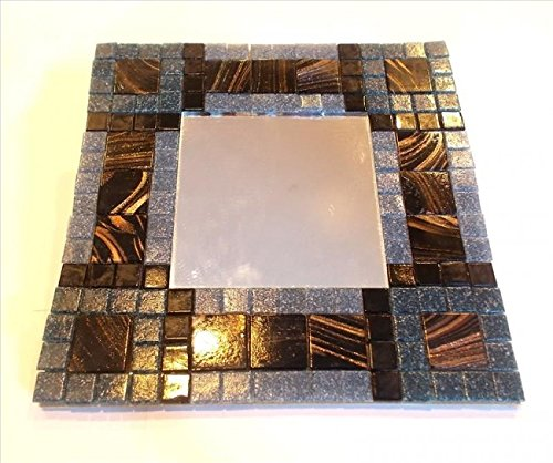 Mosaic Heaven Mosaic Mirror kit - Golden Grey. Easy and fun to craft, great for adults, children, schools, beginner and expert mosaic artist