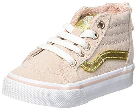 Vans Sk8-Hi Zip, Chaussures de Running Bébé Fille, Rose (Mte), 24 EU