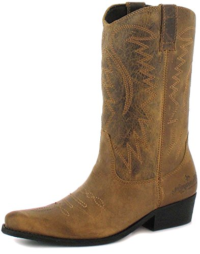51ur6c2pwkL BEST BUY UK #1New Ladies/Womens Brown Wrangler Slip On Hi Tops Cowboy Boots.   Brown   UK SIZE 8 price Reviews uk