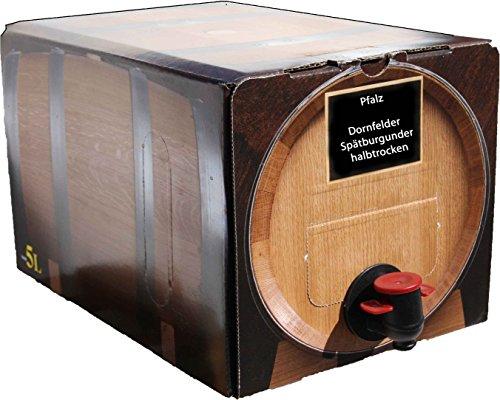 Pfälzer Dornfelder Spätburgunder Rotwein halbtrocken 1 X 5 L Bag in Box direkt vom Weingut Müller in Bornheim