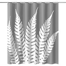 Cortina de Baño Ducha con 12 Ganchos de Plástico de Htovila (Poliéster de 90 g