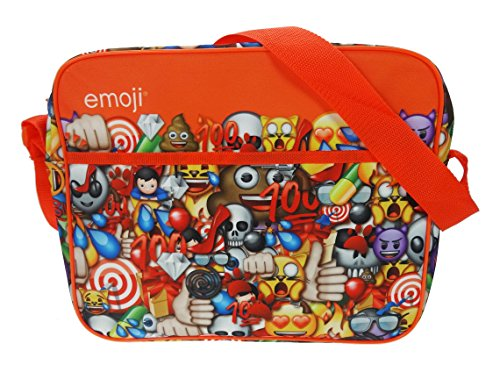 emojis Courier Messenger Bag, 34cm, rot (Courier Messenger Bag)