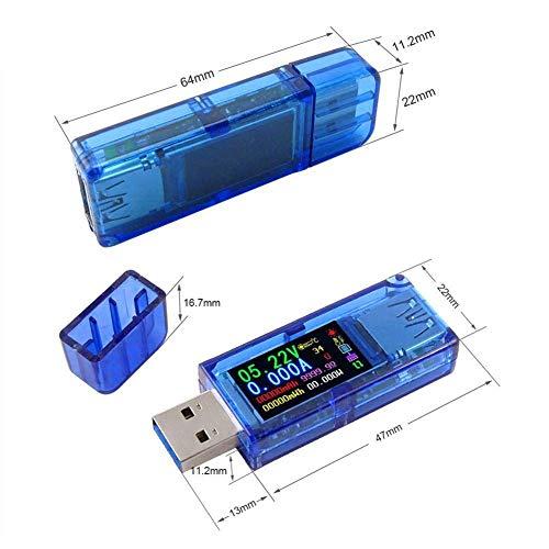 Prüfgerät Spannung Farbe LCD Bildschirm Strom Leistungskapazität Batterie Meter USB 3.0 Voltmeter