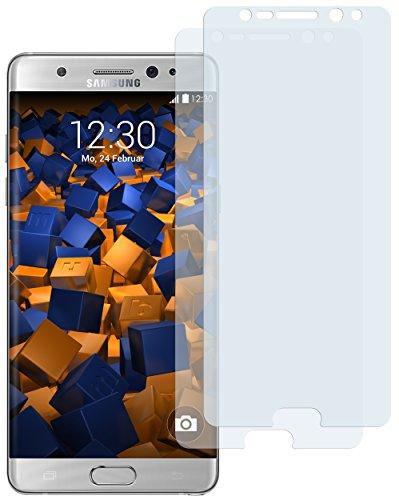 2 x mumbi Bildschirmschutzfolie für Samsung Galaxy Note 7 Schutzfolie (bewusst kleiner als das Bildschirm, da dieses gewölbt ist)