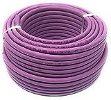 Reulin - Cable de Ethernet de 25 metros, Carrete Cat 7A - libre de halógenos 1200 MHz, de bronce - Cable de red súper rápido - (PoE)/PoE + (25 m color morado).