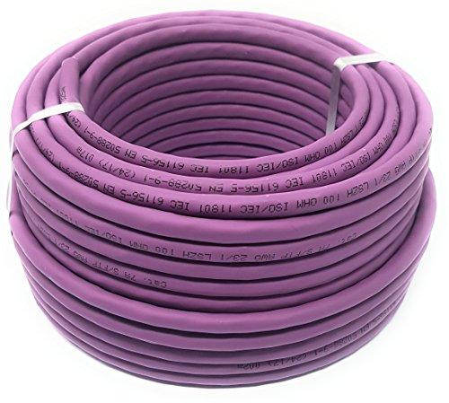 Cat 7A Reel - Ethernetkabel, halogenfrei 1200 MHz / Kupfer / Super Fast Netzwerkkabel - (PoE) / PoE + (25 m Meter Lila) 12 Composite-kabel