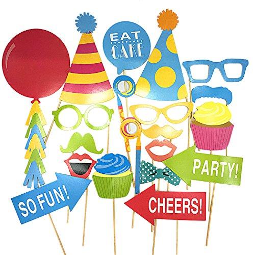 20 Pcs Baby Kinder Geburtstag Party Fotorequisiten Fotografie Requisiten DIY Installationssatz Ballons